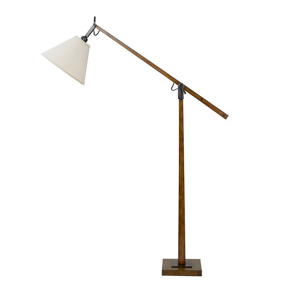 reputable site 03fd0 4b2ef Timber Floor Lamp with Adjustable Arm with Empire Shade - B254L